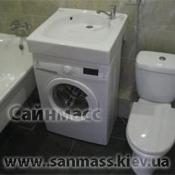 Установка стиральной машины под умывальником